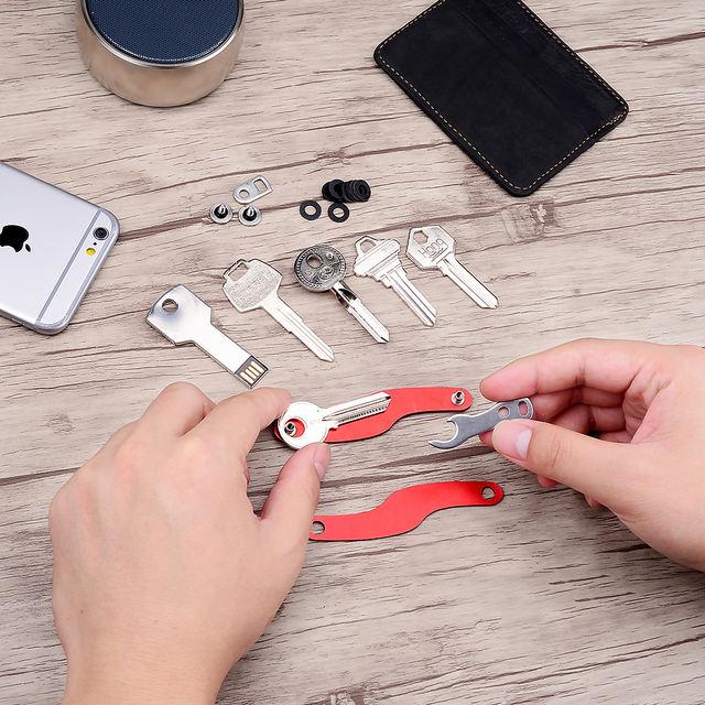 Modern Multifunctional Metal Key Organizer Wallet