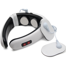 Aptoco Electric Pulse Back and Neck Massager Far Infrared Heating Pain Relief