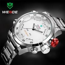 Original BRAND WEIDE watch men stainless steel digital watch sports wristwatch LED Quartz  Military Wrist Watches