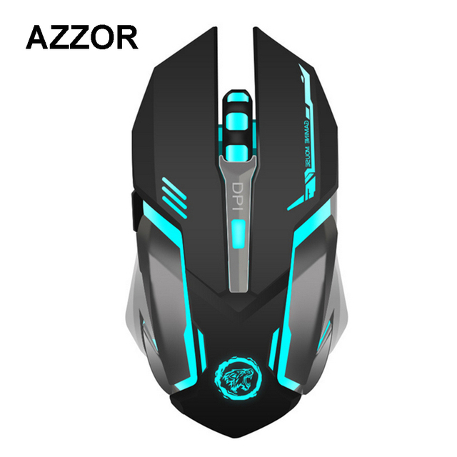 AZZOR Rechargeable Wireless Gaming Mouse 7-color Backlight