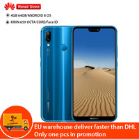 Huawei P20 Lite Nova 3E 4G Smart Cell Mobile Phone Android 8.0 Face ID 5.84 Screen 24MP Front Camera 4GB 64G Fingerprint