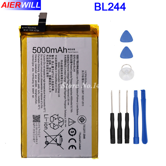 BL244 Battery for Lenovo Vibe P1 P1A42 P1C58 P1C72 Batterie Bateria Batterij Accumulator AKKU 5000mAh+Disassemble Tools