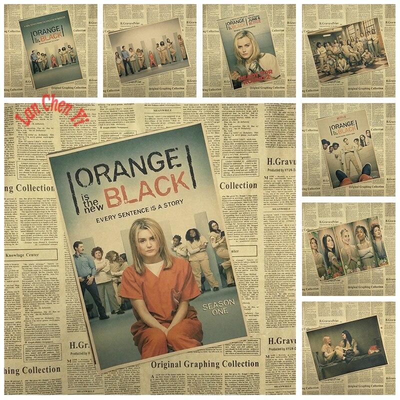 Klasická televizní seriál Oranžová Je nový černý Kraft Paper - Dekorace interiéru