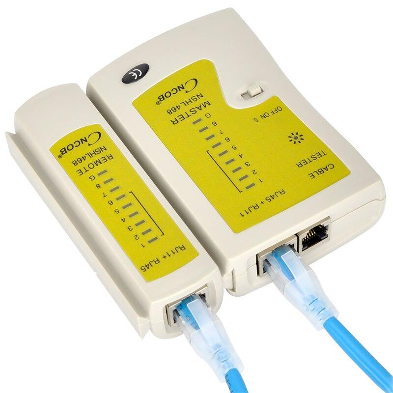 CNCOB RJ45 et RJ11 Testeur de Câble Réseau Ethernet LAN Réseau Outil de Test Cat5E Cat6A Cat3 RJ12 CHL-468 UTP FTP Détecteur
