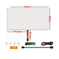 Brand new 15.6 inch 4 wire resistive touch screen+USB Driver board for industrial control integrated machine digitizer panel kit