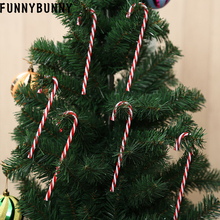 FUNNYBUNNY 6PCS Christmas Acrylic Candy Cane Xmas Tree Hanging Decoration Ornaments