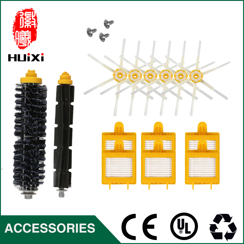 High Efficient Rolling Brush + 6-armed side Brush + HEPA Filter+Screw to Cleaning Home for 760 770 780 790 Robot Vacuum Cleaner bristle brush flexible beater brush fit for irobot roomba 500 600 700 series 550 650 660 760 770 780 790 vacuum cleaner parts
