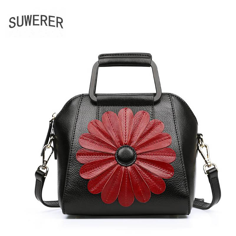 2018 New women bag Superior cowhide women Genuine Leather bags luxury handbags women bags designer women handbags shoulder bag ladies genuine leather handbag 2018 luxury handbags women bags designer new leather handbags smile bag shoulder bag
