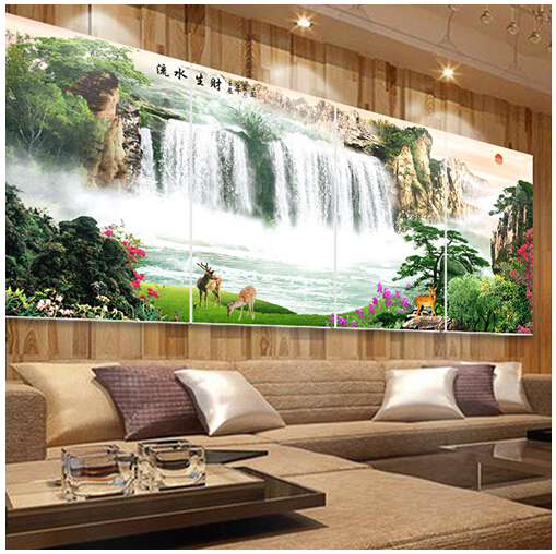 living room feng shui frameless painting decorative painting