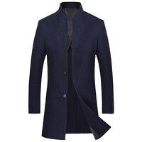 Длинная ткань ручной работы пальто 2018 осень зима рекреационная чистая шерсть двойной мужской MN1189 компонент пальто