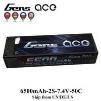 As de Gens Lipo Batterie 2 s 6500 mah 6800 mah Lipo 7.4 v Batterie Pack 50C 1/10 1/8 Échelle pour traxxas Slash 4x4 RC Voiture Deans Plug