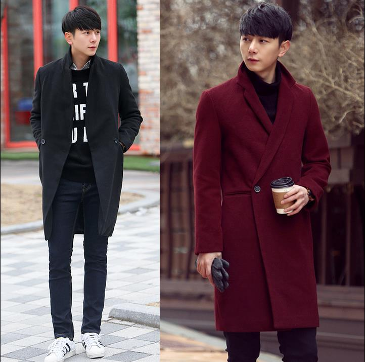 Red Wool Coat Men - Coat Nj