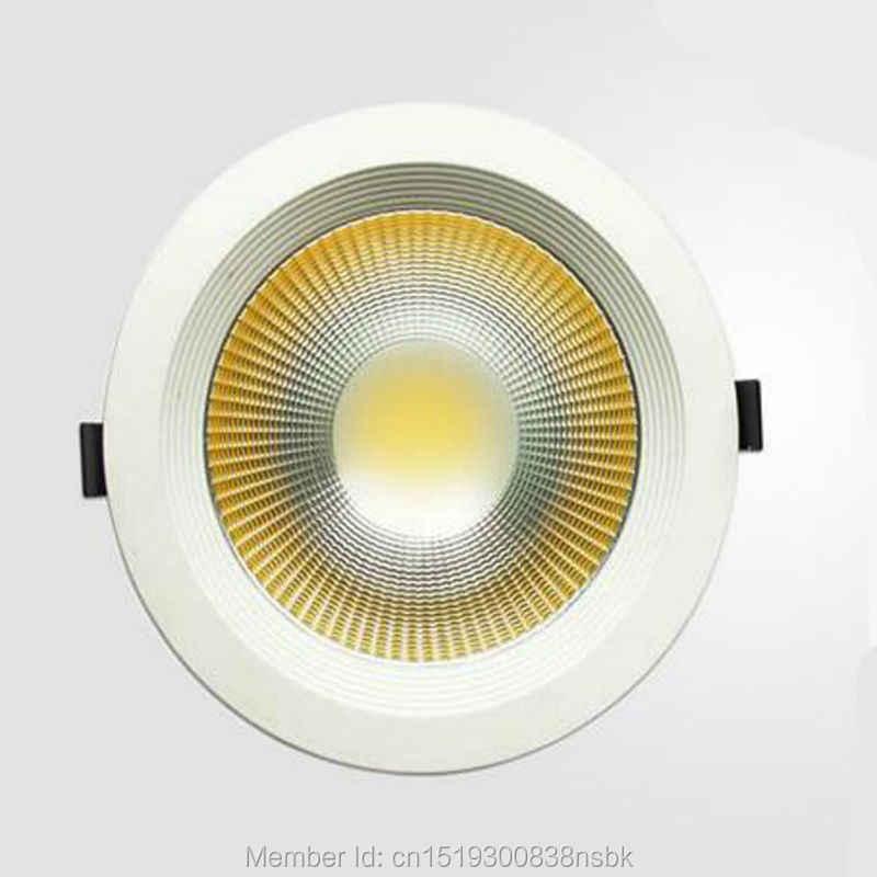 (50 PCS/Lot) tebal Perumahan Epistar Chip 3 Tahun Garansi 12 W DIPIMPIN Downlight TONGKOL DIPIMPIN Down Light Tersembunyi Langit-langit Tempat Lampu Pencahayaan