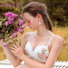 Realwill цветочный бюстгальтер без косточек