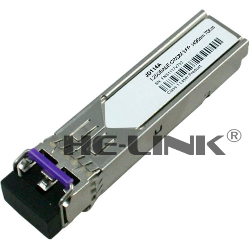 JD114A --1000BASE CWDM SFP 1490nm 80km transceiver (Compatible with HP)