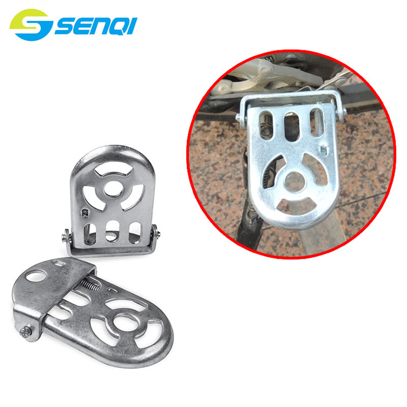 MTB Quick Release Rear Foot Pedal Silver Colour Hollow Out Lightweight Folding Bike Rear Seat Pedal BZJ008