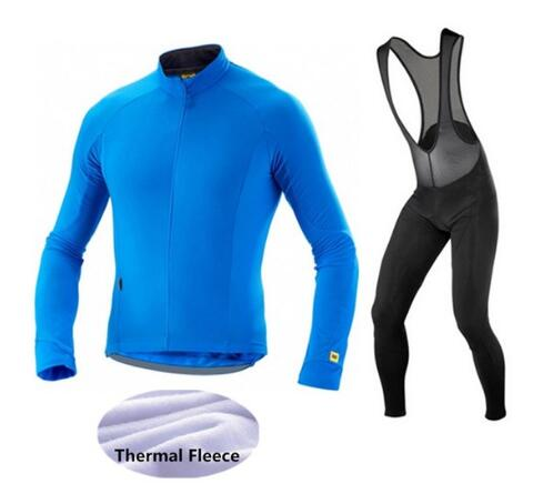 Mavic Winter Cycling Jersey 2017 Pro Team Cycling Set Thermal Fleece Men Long Sleeve Bike Clothes Maillot Ropa Ciclismo Invierno pro team long sleeve cycling jersey women 2017 ropa ciclismo mujer winter fleece mountan bike wear clothing maillot cycling set