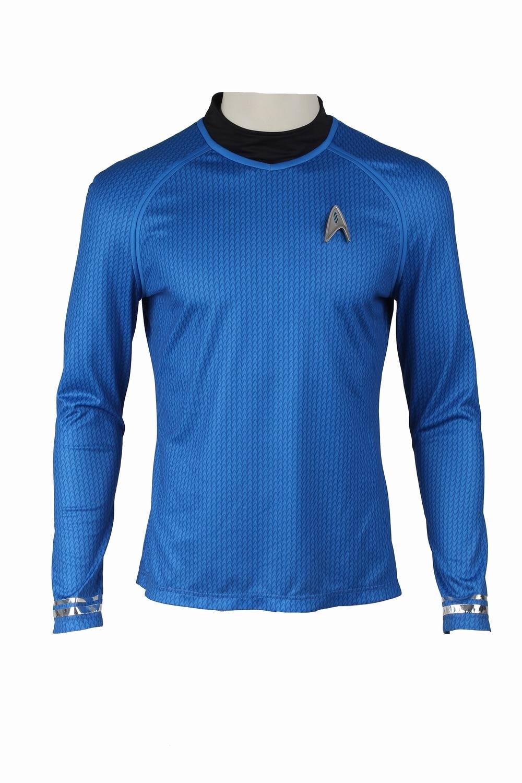 b737f173d50 Star Trek Cosplay Costume Leonard McCoy Bones Cosplay Clothing Into  Darkness Shirt Uniform Men Halloween Cosplay Costume Blue