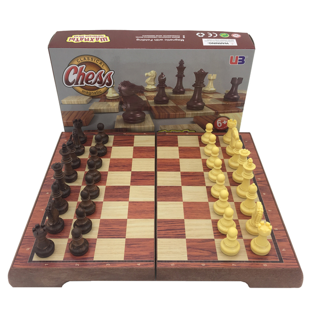 Chess Set Folding Chessboard Magnetic Pieces Board Size 24.5 cm * 21.2 cm Portable Travel Games Chess Learning Set For Children