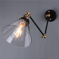 Vintage wall light Industrial Edison bulb Clear glass wall lamp 110V 220V bedroom wall lamp for dinning living room
