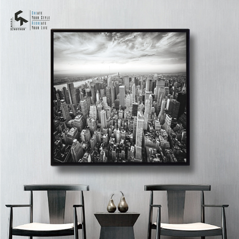 Create Recreate Nordic Poster Black And White City Posters Prints Wall Art Canvas Painting Decoration Pictures Cr1810105004 In Calligraphy