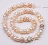 New Arriver Pearl Jewellery,Druzy 9 10mm Multicolor Button Baroque Natural Freshwater Drusy Irregular Pearl Bead Supply