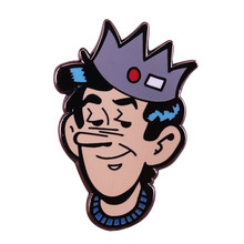 Riverdale Jughead Jones pin corona cappello con il tasto rosso e bianco tag spilla beanie whoopee cap badge Archie comics fan regalo(China)
