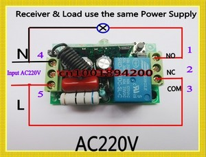 Image 2 - 220V  AC 10A Relay Receiver Transmitter Light Lamp LED Remote Control Switch Power Wireless ON OFF Key Switch Lock Unlock 315433