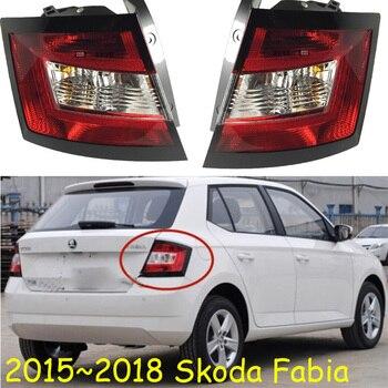 1pcs Car Styling for Skoda Fabia taillights 2015 2016 2017 2018year car accessories Fabia Lamp yeti fabia rear light