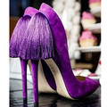 2015 Fashion Women Pumps Thin Heels High Heels Shoes Genuine Leather Women Shoes Tassel Pointed Toe Sexy Party Shoes PumpsPPO044