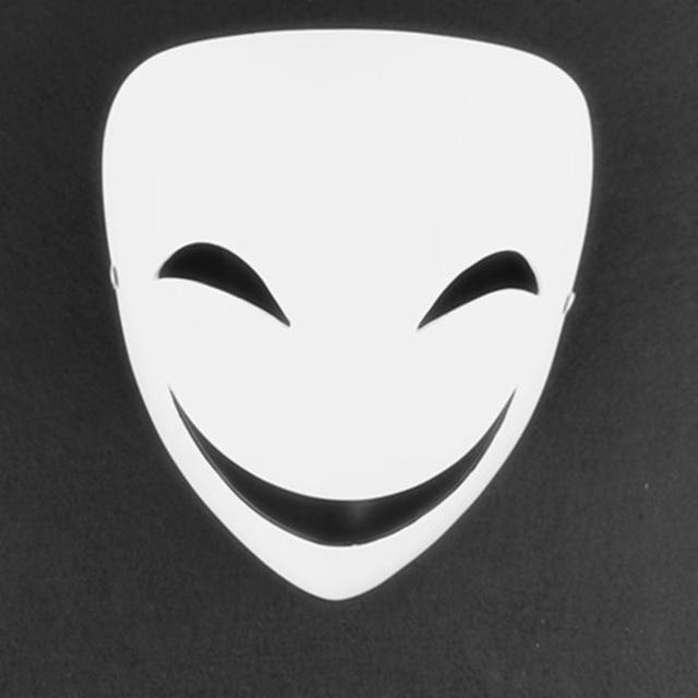 Hitam Peluru Wajah Senyum Putih Masker Kagetane Kembarnya Halloween