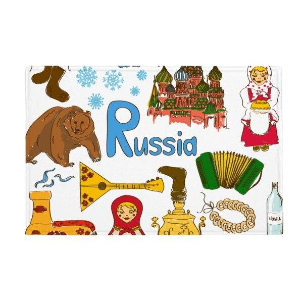 Russia Landscap Animals National Flag Anti slip Floor Mat ...