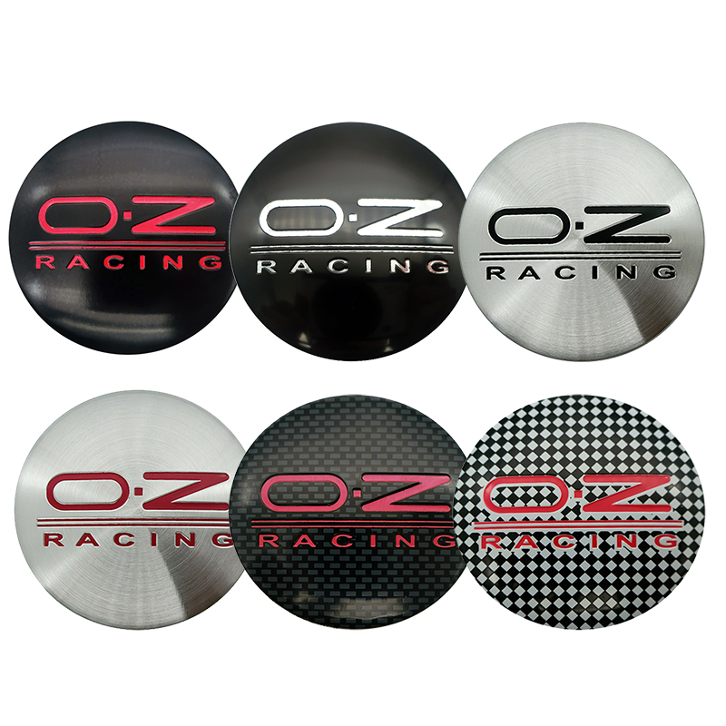 4PCS 56mm OZ Racing Car Logo Badge Emblem Wheel Center Hub Caps Wheel Center Covers Sticker Car Styling Accessories