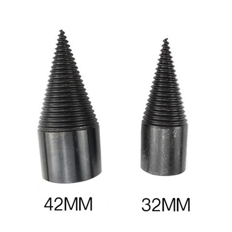 High Speed Twist Drill Bit Wood Splitter Screw Cones Splitting Bit Wood Drill 32/42MM Square Round Hexagonal LB88