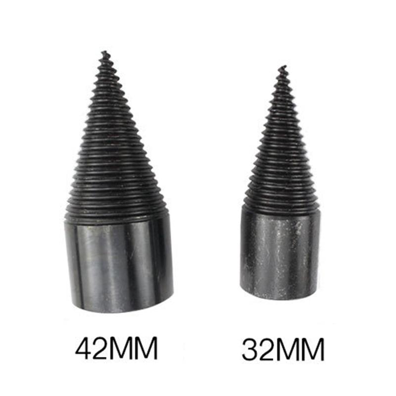 High Speed Twist Drill Bit Wood Splitter Screw Cones Splitting Bit Wood Drill 32/42MM Square Round Hexagonal LB88