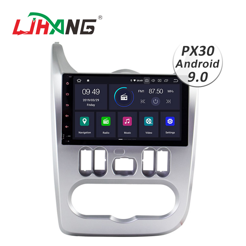 LJHANG 10.1 Polegada Android 9.0 Rádio Do Carro Para Dacia Duster Logan Sandero 1 Din Multimedia Player WIFI GPS de Áudio Estéreo IPS Unidade Central