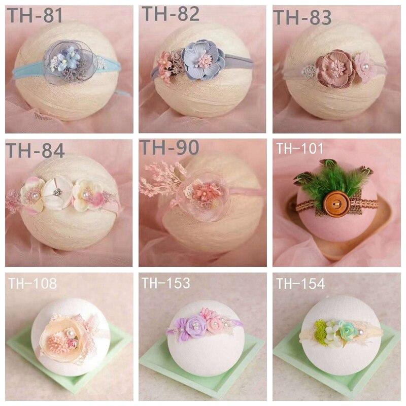 1pc Newborn Baby Flower Pear Headband Girl Fashion Cute Photography Headpiece Props Hair Accessories KYY8576