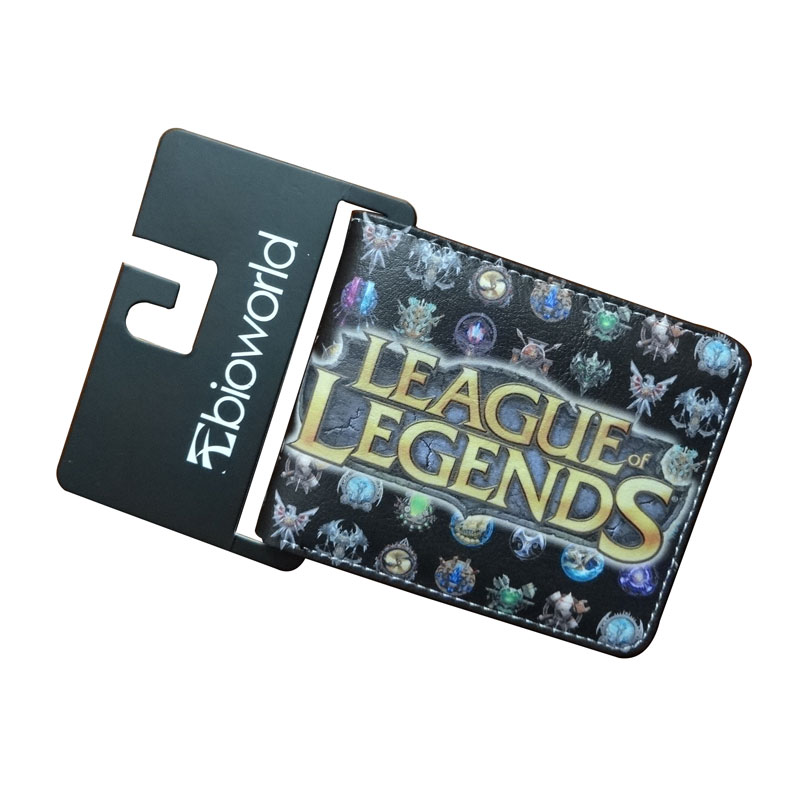 Cartoon Anime League Legends Wallets Creative Gift Purse Students Boy Girls Leather Bags Men Women Fashion Casual Short Wallet