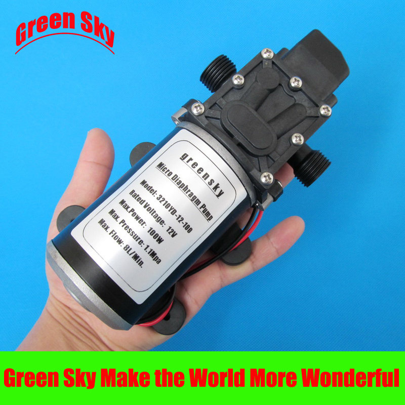 160PSI 8L/Min DC 12V 100W diaphragm pump pressure high quality 8l min 24v dc 80w food grade pump dc