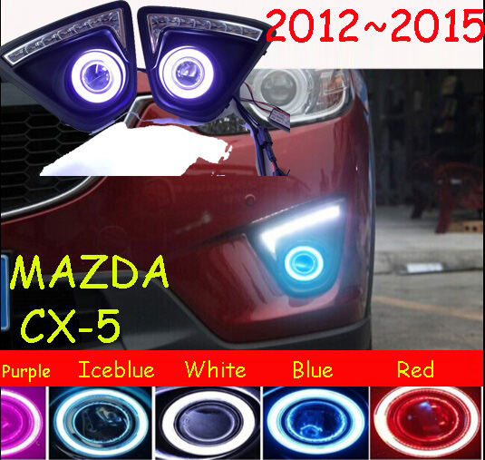 MAZD CX-5 fog light LED 2012~2015 Free ship!MAZD CX-5 daytime light,2ps/set+wire ON/OFF:Halogen/HID XENON+Ballast,MAZD CX-5