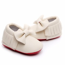 PU Leather Soft Bow-tie Infant Moccasins