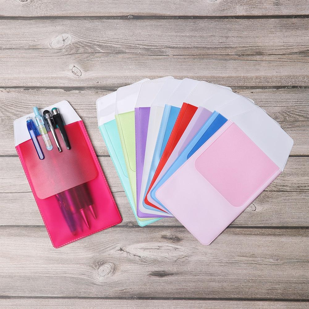3Pcs Multi-color Pocket Protector Leak-Proof PVC Portable Pen Pouch Bag Doctors Nurses For Pen Leaks Hospital Office Supplies