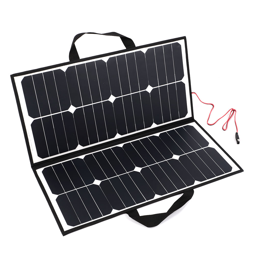 High Quality 50W 18V Portable Camping Folding Solar Panel Charger For Battery Covenience