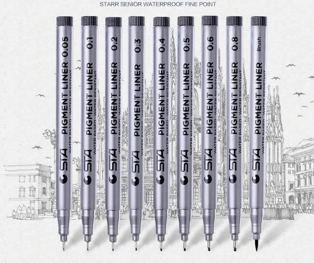 Genuine 8050waterproof hand-painted pens hook line pen pen stroke comic sketch designh Art Markers 5