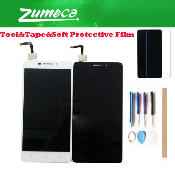 5.0'' For Lenovo Vibe P1M P1ma40 P1mc50 Lenovo P1M LCD Display +Touch Screen Digitizer Assembly White Black Color With Kits