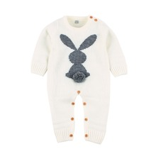 Baby Clothes Funny Rabbit Knitted Newborns Boy Girl Rompers