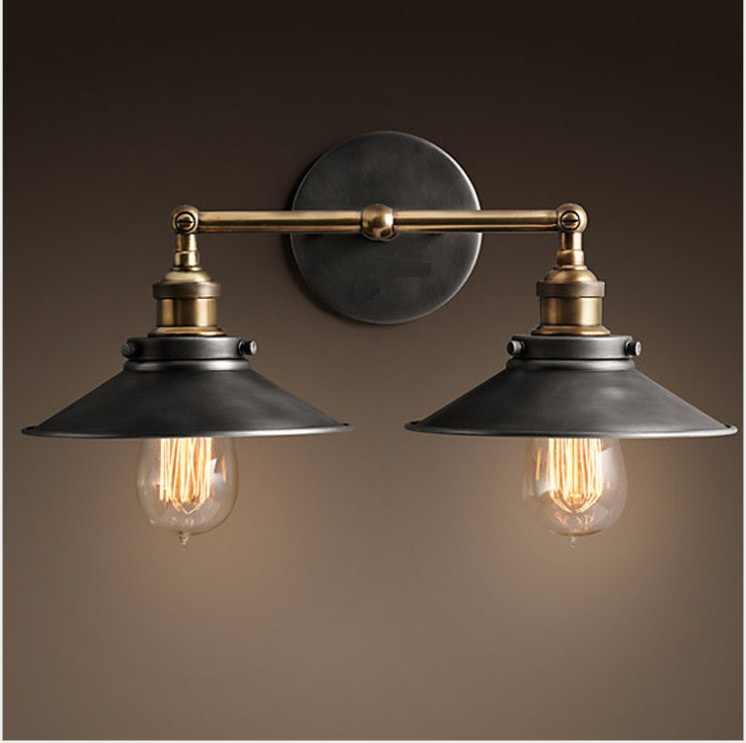 Лофт винтажные настенные лампы в американском стиле промышленный настенный светильник E27 прикроватные Настенные светильники Украшение дома освещение