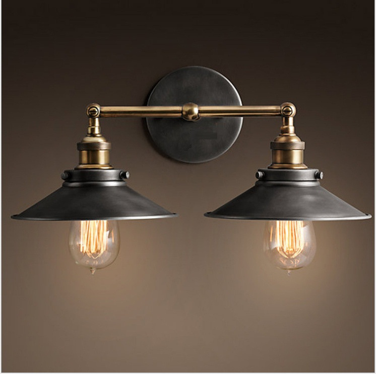 Loft Vintage Wall Lamps American Industrial Wall Light E27 Bedside Wall Lamps Fixtures Home Decoration LightingLoft Vintage Wall Lamps American Industrial Wall Light E27 Bedside Wall Lamps Fixtures Home Decoration Lighting