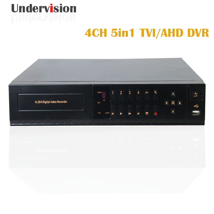 4chs AHD network1080P DVR ,1080N resolution and HDMI output cctv DVR Video and Audio output