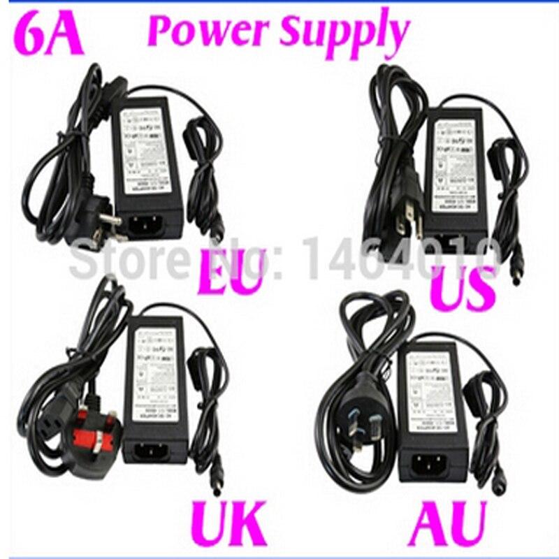 120 см 6a 12 В США ЕС Великобритания АС шнур Питание трансформатор для RGB белый 5050 3528 Светодиодные ленты свет рождественские украшения